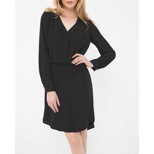 White House Black Market Pleated Pintuck Dress